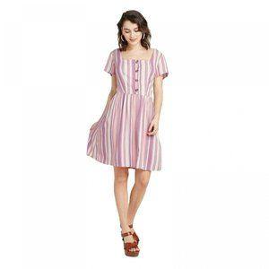 NWT Xhilaration Striped Mini Dress Medium Pink